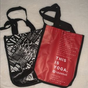 Lululemon Reusable Bags - Two new